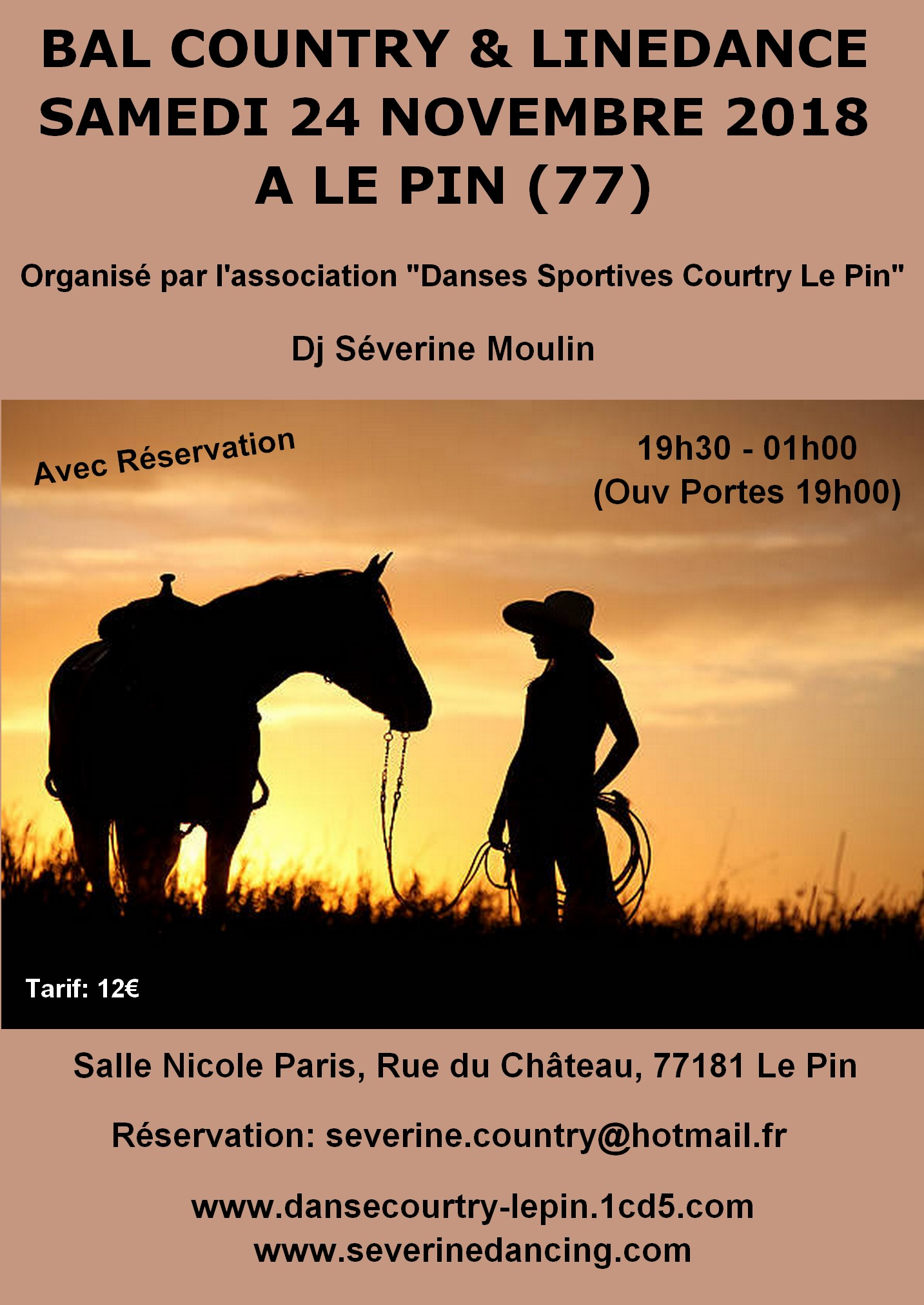 soiree country 24 novembre